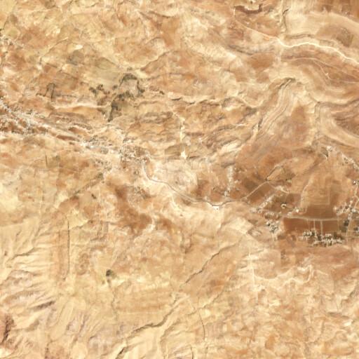 satellite view of the region around Khirbet Dhubab