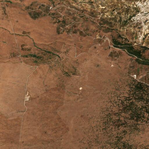 satellite view of the region around Za'ura