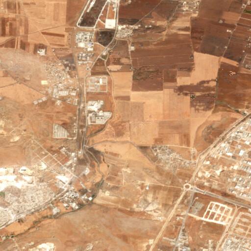 satellite view of the region around Kullan Köy