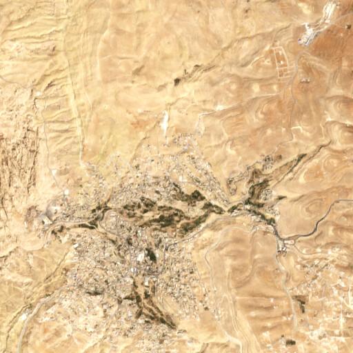 satellite view of the region around Tawilan