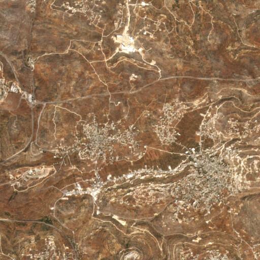 satellite view of the region around Khirbet Samara