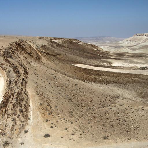 panorama of hills along the road between Kadesh-barnea and Arad