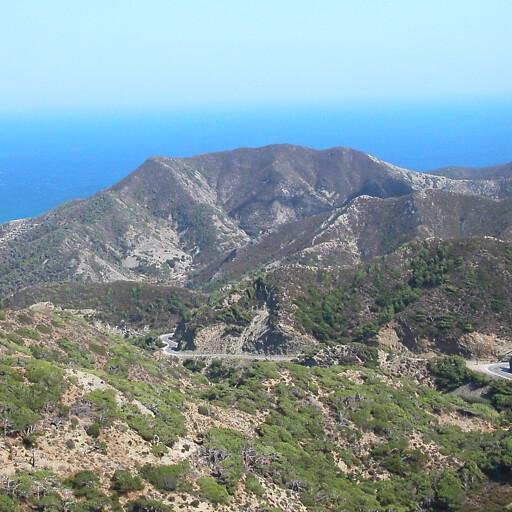 panorama of a natural area on Karpathos