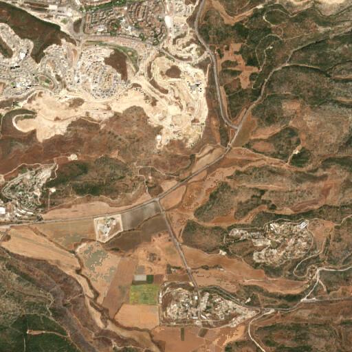satellite view of the region around Ain Kezbeh