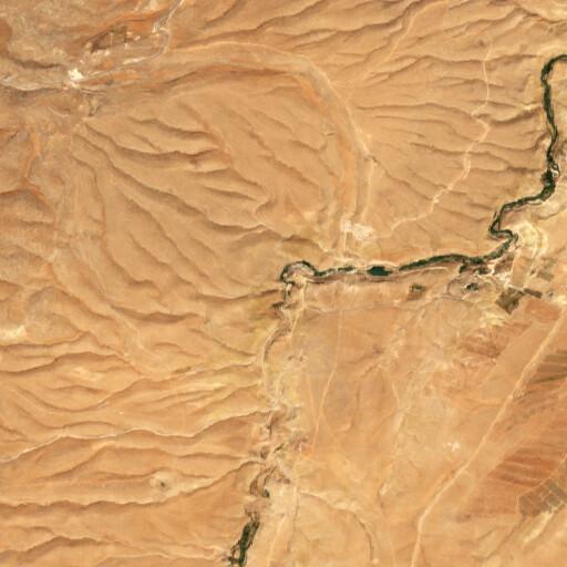 satellite view of the region around Ain ez Zarqa