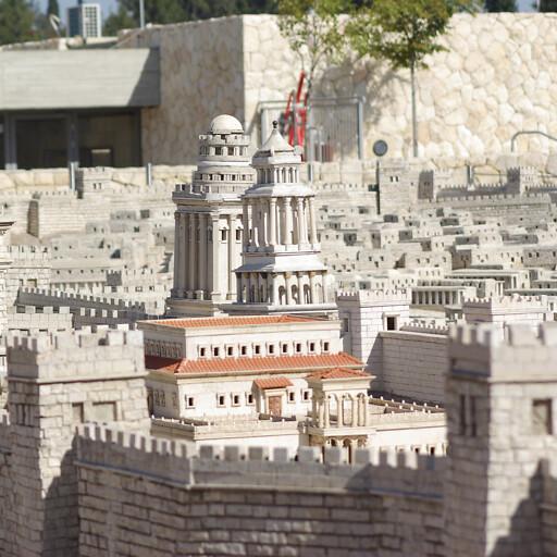 model of Herod's palace in Jerusalem