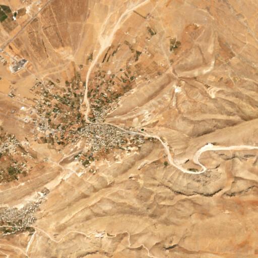 satellite view of the region around Ras Baalbek