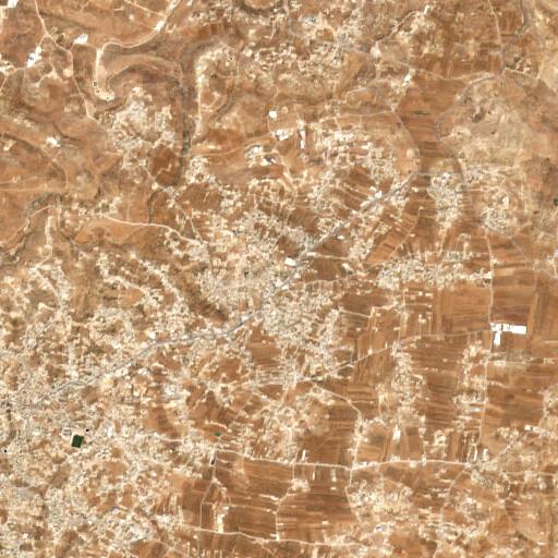 satellite view of the region around Khirbet er Raqqa