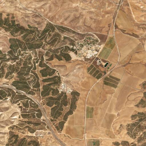 satellite view of the region around Khirbet Umm er Rammamin