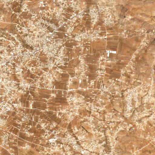 satellite view of the region around Khirbet Khureise