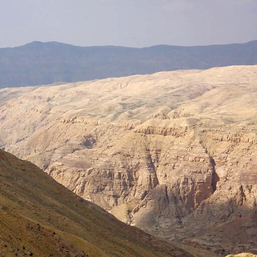 panorama of cliffs along Wadi al Hasa