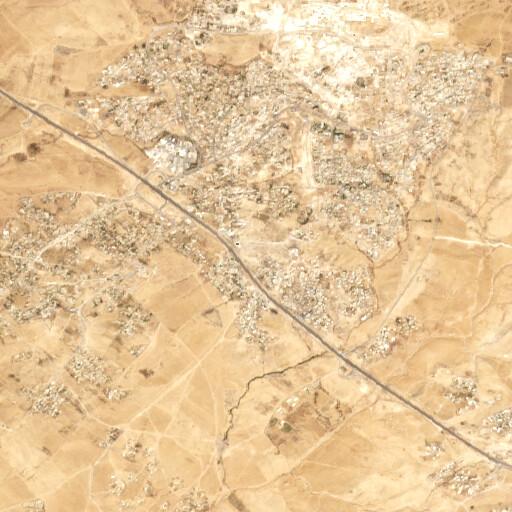 satellite view of the region around Khirbet Hora