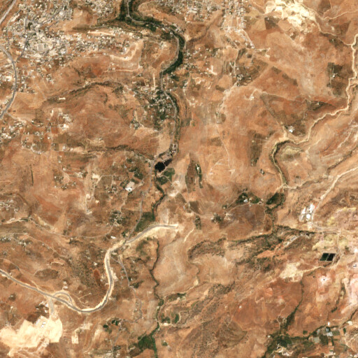 satellite view of the region around Khirbet Jazzir