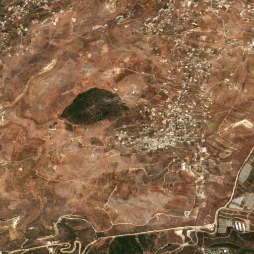 satellite view of the region around Yarun