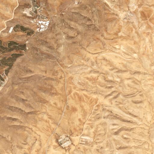 satellite view of the region around Khirbet el Qaryatein