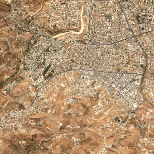 satellite view of the region around Khirbet Sara