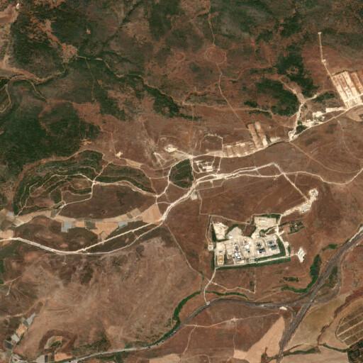 satellite view of the region around Khirbet Qutteina