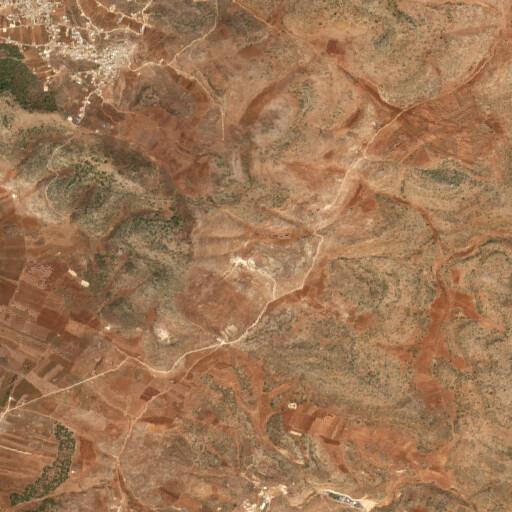 satellite view of the region around Khirbet Ibziq