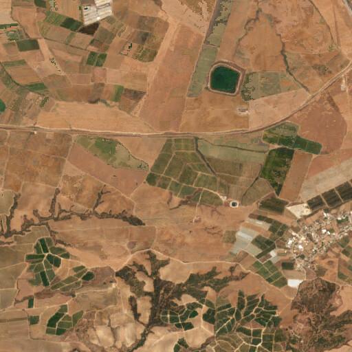 satellite view of the region around Khirbet el Judeideh