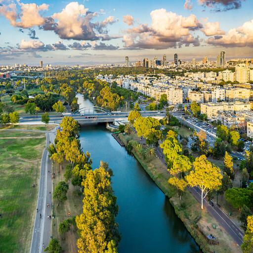 panorama of the Yarkon River
