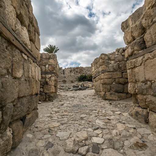 ruins at Tel Megiddo