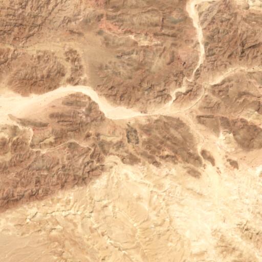 satellite view of the region around Khirbet en Nahas