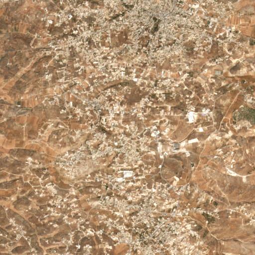 satellite view of the region around Khirbet Beit Maqdum