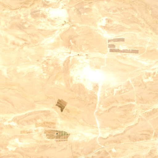 satellite view of the region around Rujum al Juththa