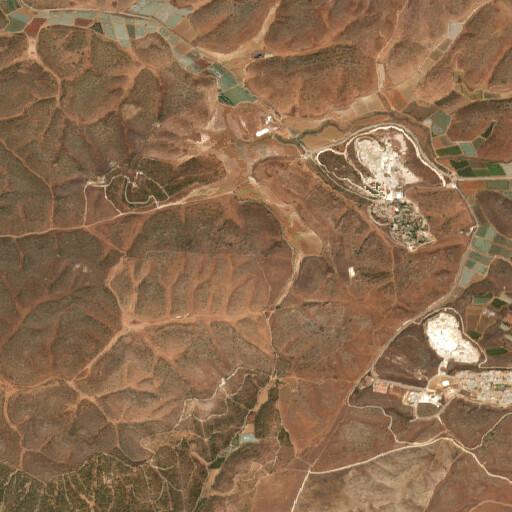 satellite view of the region around Tell Kilkis