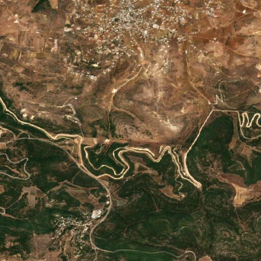 satellite view of the region around Khirbet Qatamun