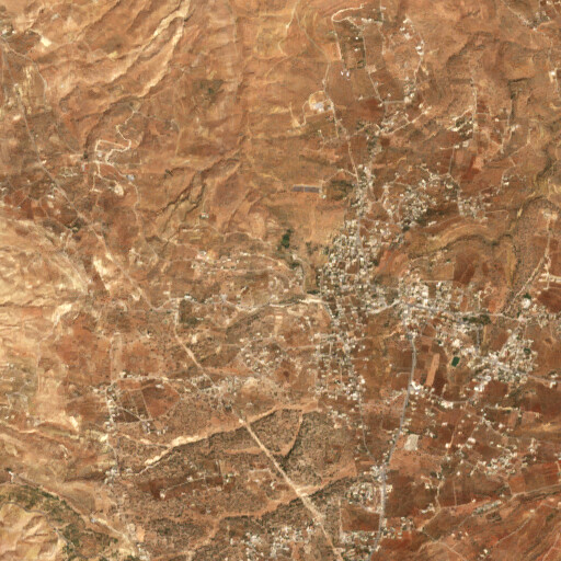 satellite view of the region around Tell Hejaj