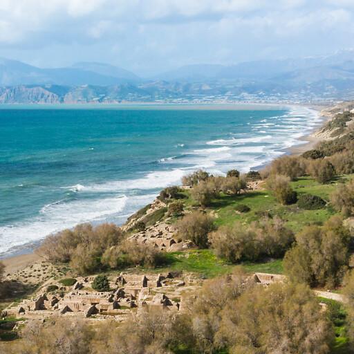 shoreline panorama of Crete