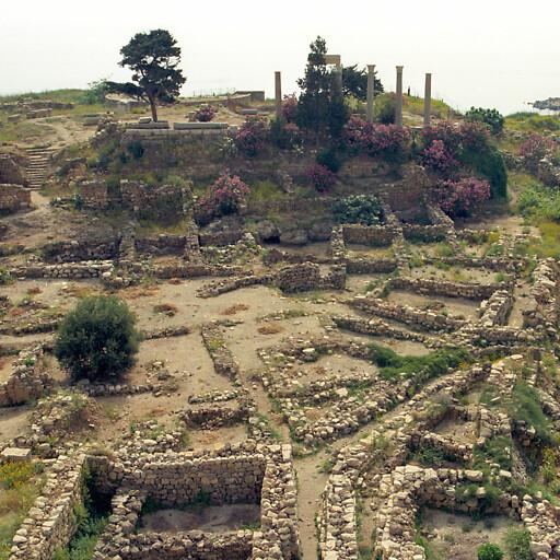 panorama of ruins at Byblos