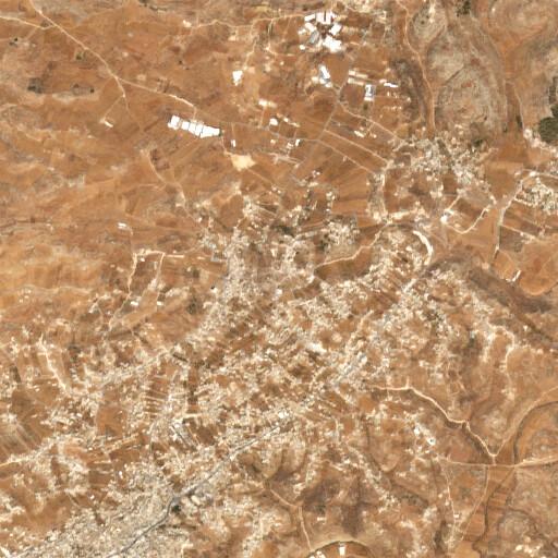 satellite view of the region around Deir ed Domeh