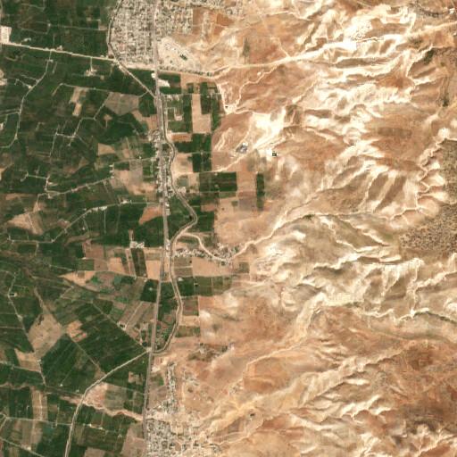 satellite view of the region around Umm ed Debar