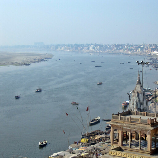 panorama of the Ganges River