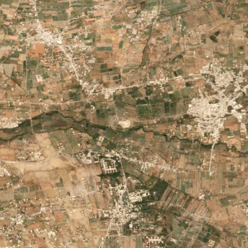 satellite view of the region around Tell el Salihiye