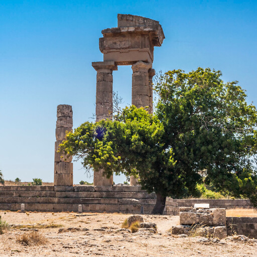 ruins at the Acropolis of Rhodes
