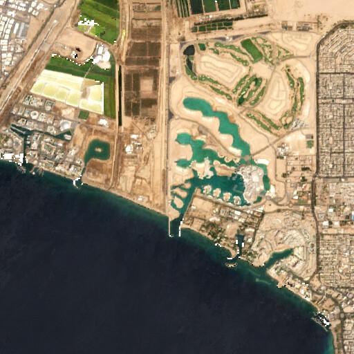 satellite view of the region around Tell el Kheleifeh