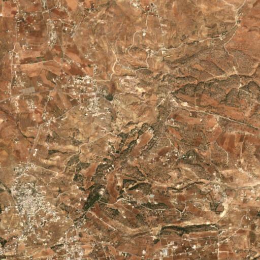 satellite view of the region around Khirbet er Rasuni