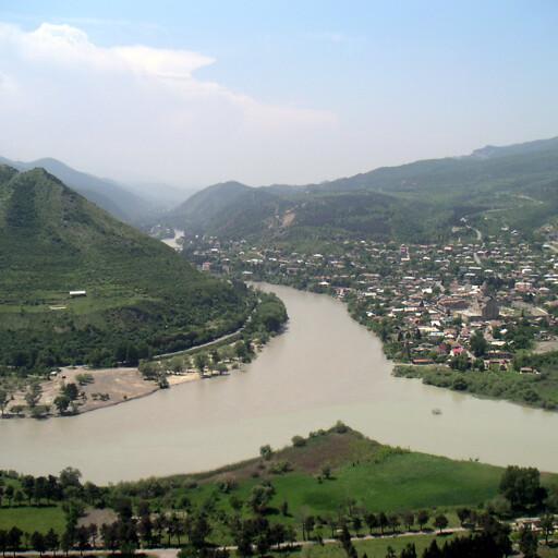 panorama of the Kura River