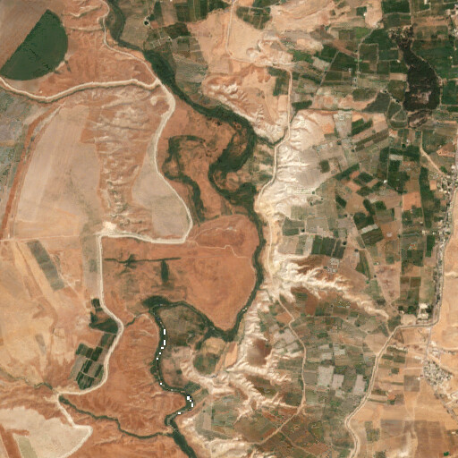 satellite view of the region around Tell Abu Sus