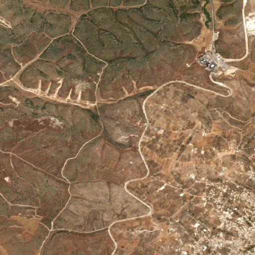 satellite view of the region around Horbat Bet Elem