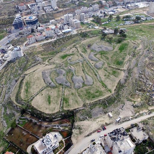aerial panorama of Tell en Nasbeh