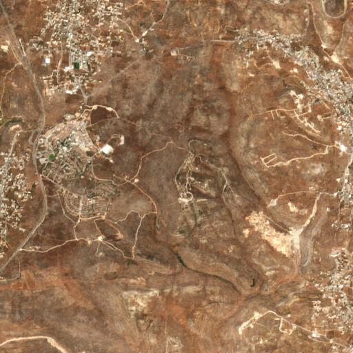 satellite view of the region around Khirbet el Mazari'a