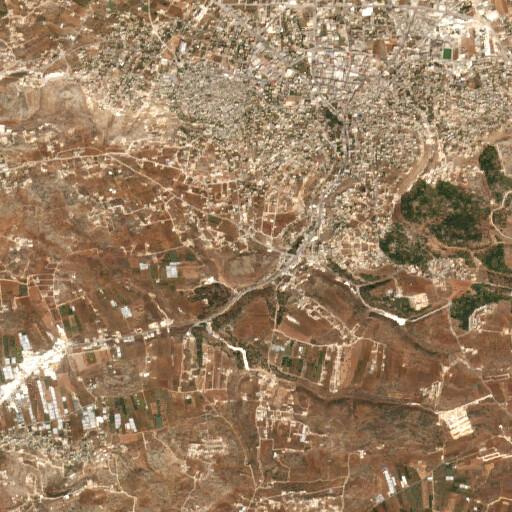 satellite view of the region around Khirbet Belameh