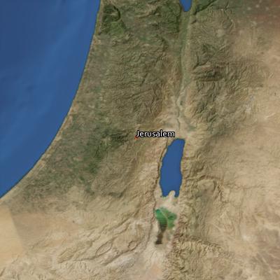 Satellite image of the places in Ecclesiastes