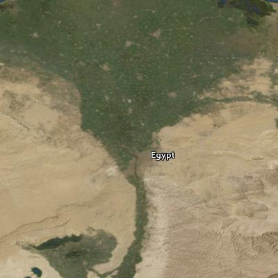 Satellite image of the places in Haggai