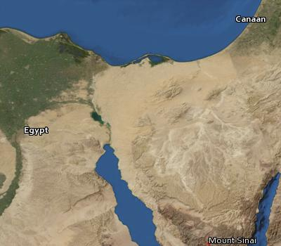 Satellite image of the places in Leviticus