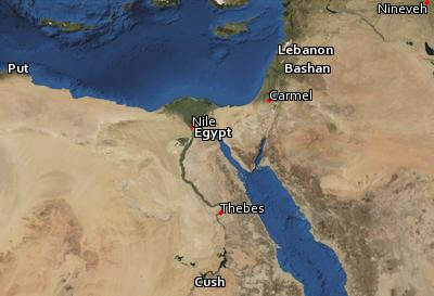 Satellite image of the places in Nahum